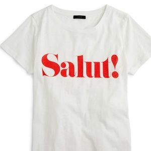 NWOT J.Crew Salut tee French style Medium